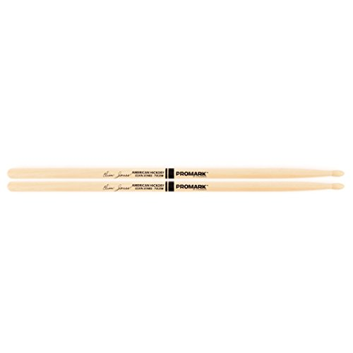 - Promark TXJZW American Hickory Elvin Jones Autograph Series Model Jazz Wood Tip, Single Pair