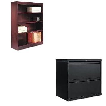 kitalebcs44836myalelf3029bl - Value Kit - mejor esquina, chapa de madera de estantería (alebcs44836my) y mejor two-drawer lateral mueble archivador ...