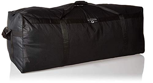 (Gothamite 50-inch Oversized Duffle Bag Heavy Duty | Luggage Bag | XL Duffle Bag | Sports Bag | Storage Oversized Duffle | 600D Polyester (Black))