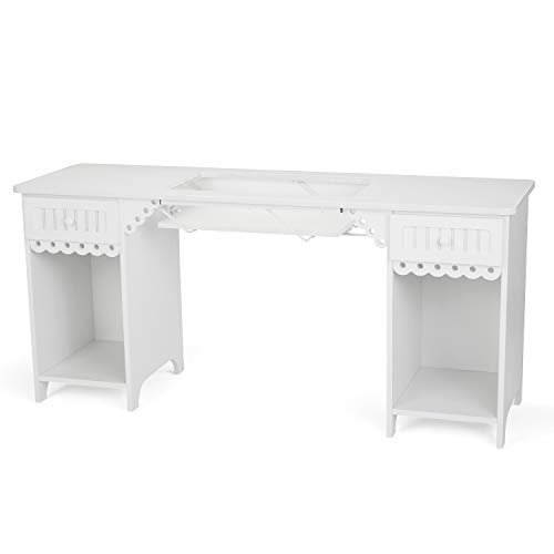 Arrow 1001DL Olivia Sewing Cabinet in White -  Arrow Sewing Cabinets