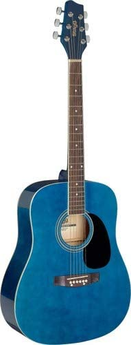 Stagg 6 String Acoustic Guitar Right (SA20D 3/4 BLUE)