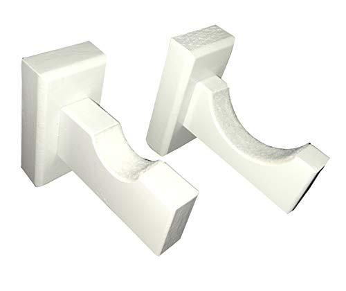 Baseball Bat Wall Mount for Horizontal Display Handmade in USA Solid Maple w/Felt Liner (White)