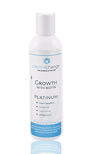 DermaChange Platinum Hair Growth Moisturizing Shampoo - With Argan Oil, Biotin & Tea Tree Extract - Supports Hair Regrowth - Hair Loss Treatments (8 oz) - Made in USA by DermaChange