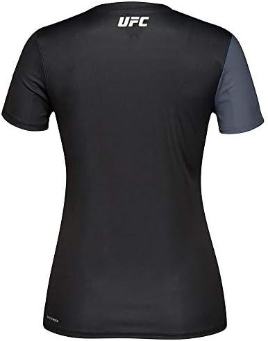 adidas UFC Officielle Reebok Fight kit (Noir/Argent) Sport-Fit Jersey pour Femme