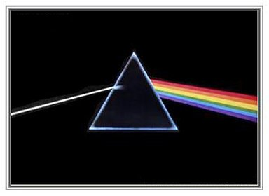 (Pink Floyd Darkside of the Moon Framed Print - Quality Silver Metal Frame 36 x 24)