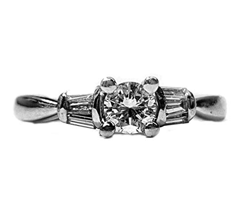Diamond Engagement Ring 39pts. t.w. Baguette/Rounds, Set in - Tw Baguette