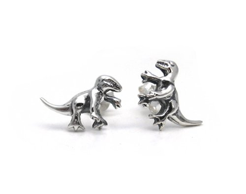 Sterling Silver Dinosaur Abrictosaurus Earrings