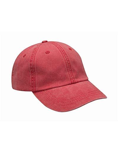 - Adams Optimum Pigment Dyed-Cap - RED - OS