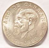 1959 Mexican Silver 5 Pesos KM%23471