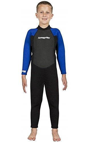 Hyperflex Access Back Zip Fullsuit with 3/2mm Thickness, 8, Blue ()