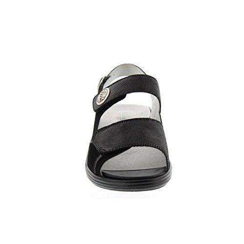 Waldläufer Hona, Sandale, Nubuk-Soft Spot schwarz, Weite H, 445001-862-001 Schwarz