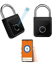 Cadeado com impressão digital Bluetooth eletrônico inteligente à prova d'água Bloqueio de gabinete Tuya/Smart Life App Alexa Google Home