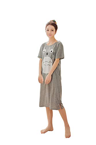 CHAIRAY My Neighbor Totoro Nightgown Cap Sleeve Costume Dress Pajamas nightskirt XL Gray