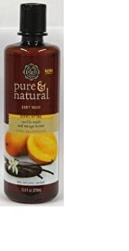 Pure Natural Body Wash Vanilla Seeds Mango Butter 12.8 Oz.
