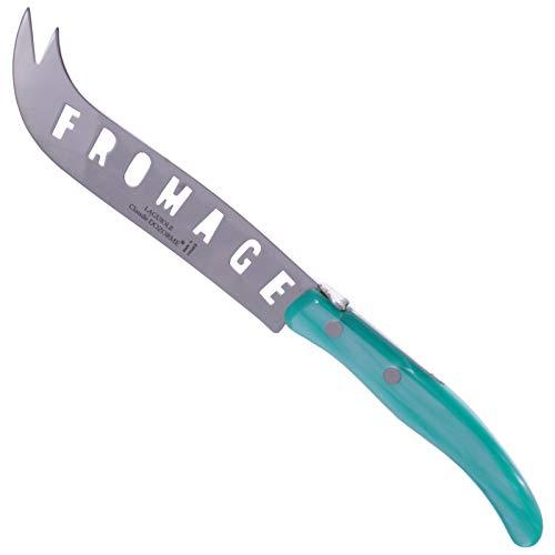 (Claude Dozorme Cheese Knife XXL, turquoise, Laguiole, Berlingot)