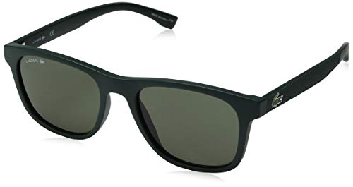 Lacoste Men's L884s Rectangular Sunglasses, Matte Green, 53.11 ()