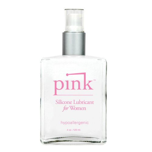 Pink Silicone Based Personal Lube Lubricant Ultra-Slick and Long-Lasting Flavor-Free Pump Bottles for Women 120 ml