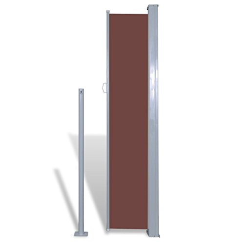 vidaXL Patio Retractable Side Awning Sun Shade Wind Protection 71''x118'' Brown by vidaXL (Image #4)