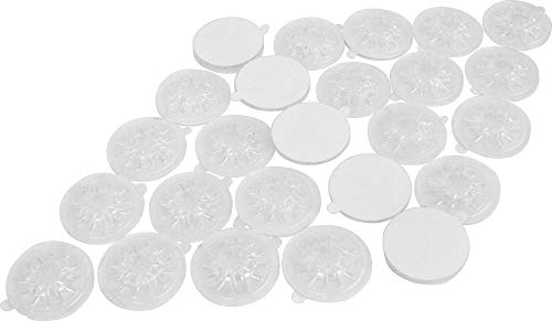 25 Clear Adhesive Backed Spider CD / DVD Hubs (Rosettes) - #CDNRSPCL - For Gluing into a Double or Triple Chubby CD Jewel Box To Increase Capacity! (Also Called Hubcaps or Caps)