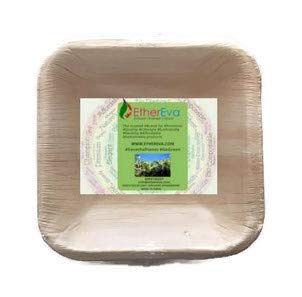 """EtherEva 4"""" mini square sustainable palm leaf bowls (for wholesale orders in 100 pcs)"""