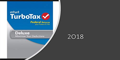'Turbotax Deluxe 2018 Tax Software 5 Fed E-file + State Print included  [onIy D0WNL0AD]'