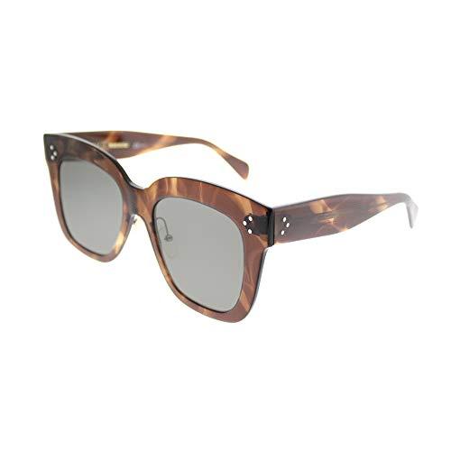 Celine CL41444/S 07B Havana Brown Kim Square Sunglasses Lens Category 3 Size ()