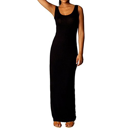 Buy black tank jersey maxi dress - 3