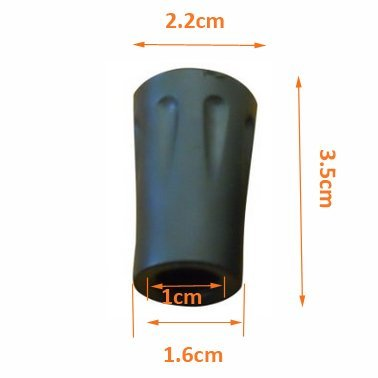Xmifer Outdoors Hiking / Trekking / Walking Pole Vulcanized Rubber Replacement Tips