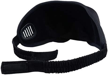 Light Block Sleep Mask,Dormir avec Bouchons doreille et Sangle R/églable-Noir OFKPO Masque de Sommeil Masque de Nuit pour Voyage en Avion//Voiture//Bus//Train