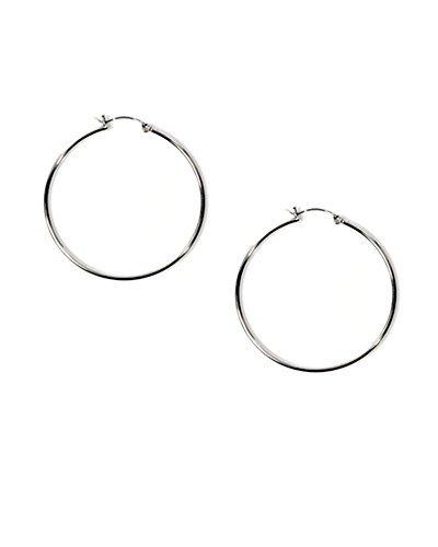 Big .925 Sterling Silver Round Circle Hoop Earrings 50mm 2 by iJewelry2