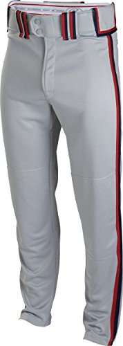 Rawlingsスポーツ用品Boys Youth semi-relaxed Pant with Braid B00LU9WO18Grey/Scarlet/Navy Small