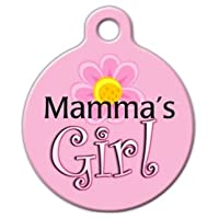 Etiqueta de identificación personalizada para el perro Etiqueta de identificación para perros - Mama's Girl - Grande - 1.25 pulgadas