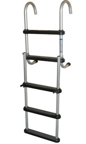 - RestorePontoon 5 STEP FOLDING PONTOON BOAT LADDER