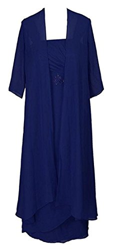 VaniaDress Women Long Mother of the Bride Dress with Jacket V091LF Royal Blue US16