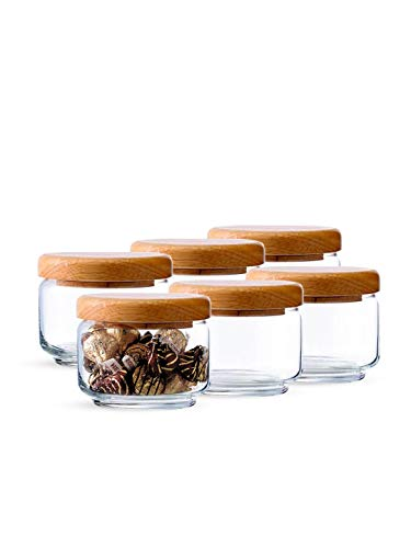ocean pop jar 325 ml with Wooden lid (Set of 6) Price & Reviews