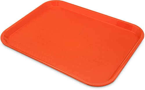 Carlisle CT141824 Café Standard Cafeteria / Fast Food Tray, 14'' x 18'', Orange (Pack of 12) by Carlisle