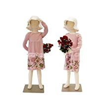 (JF-CH05T) New Child dress Form 5 years old white jersey form cover, with head, flexible arms, fingers & legs, metal base by ROXYDISPLAY™