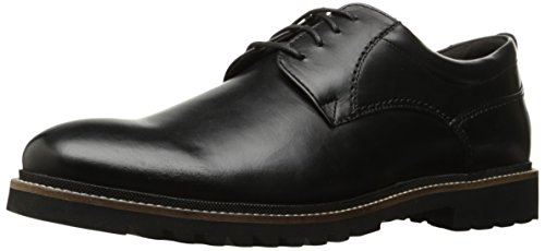 Rockport Men's Marshall Plain Toe Oxford black Leather, 9.5 M US, 9.5 M US