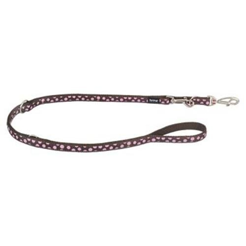 Red Dingo Pink Spots Brown multi-purpose dog leash 6,5ft Large