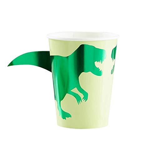 Dinosaur Party Supplies Dinosaur Birthday Decorations Kids Birthday Party Paper Cups Dinosaur Decorations Disposable Cups Pak of 16, 9 Oz.