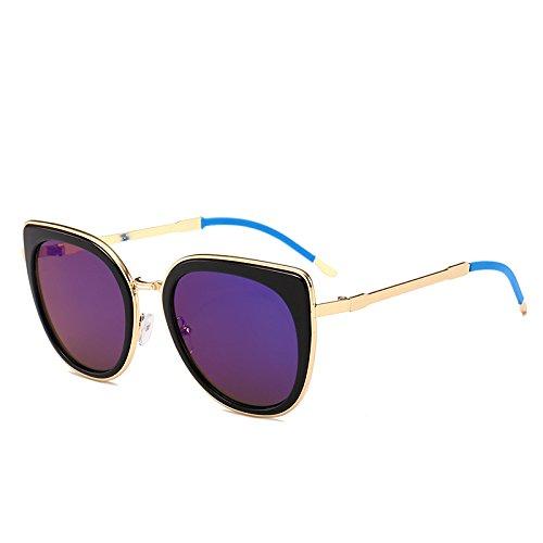 Lente de Back mercurio sol Gafas marco negro Packers de para mujer azul xrS70SFYqw