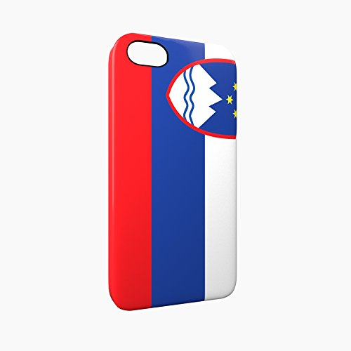 Flag of Slovenia Glossy Hard Snap-On Protective iPhone 5 / 5S / SE Case Cover