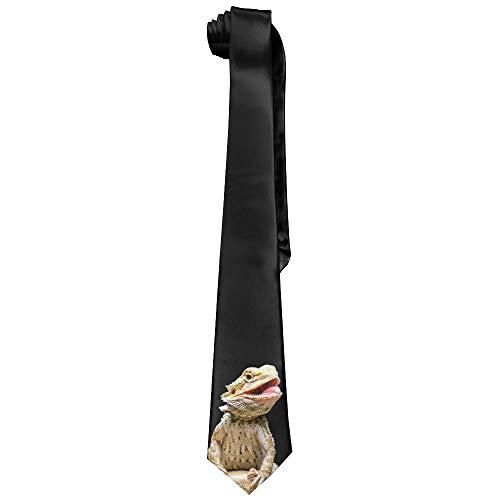 Mens Bearded Dragon Lizard Fashion Silk Ties Unique Gift Neckties
