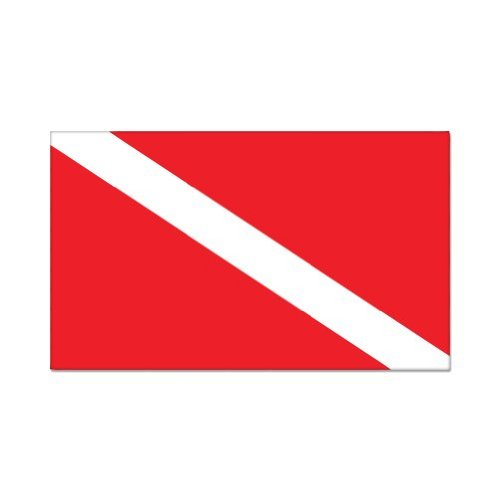 Scuba Diver Diving Flag Vinyl Sticker - Car Window Bumper Laptop - SELECT (Diver Scuba Diving Bumper Sticker)