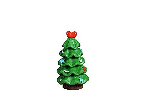 XDXDWEWERT Miniatura Moss Micro Landscape Mini Adornos de árbol de Navidad Creativa DIY Outdoor Garden Decor Home Best Green Plant Gift (Verde)