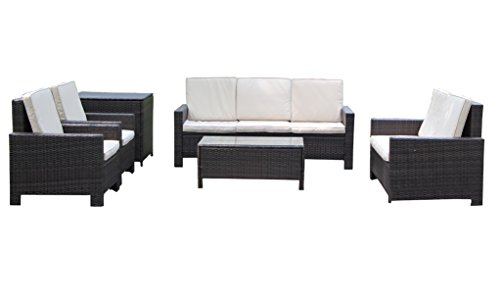 Patio Furniture Sectional Outdoor And Indoor Sofa Set 6PCS Free Combination With Cushion And Back Pillow