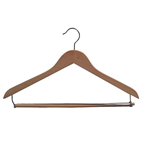 Proman Products GNC8815 Wooden Suit Hanger Wood, Light Walnut - Genesis Flat Suit Hanger