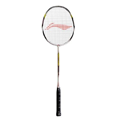 Li Ning Ss 21 Super Carbon Fiber Badminton Racquet, Size S2  White