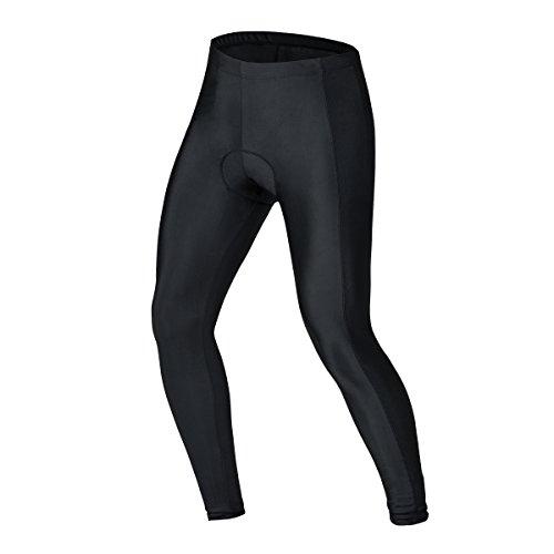 bpbtti Men's Cycling Pants Padded Bicycle Tights Legging Biking Clothes Compression Pant (Black, - Contour Jacket Black Motorcycle