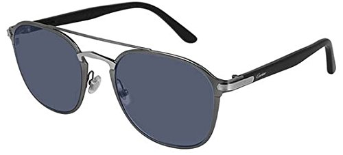 Gafas de Sol Cartier CT0012S LIGHT RUTHENIUM/SILVER unisex ...
